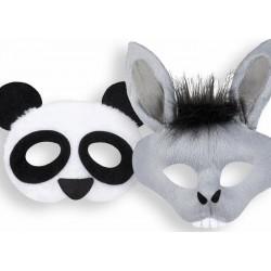 Demi-masques, panda & âne