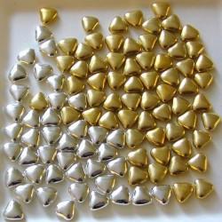Dragées Petits coeurs chocolat Or et argent