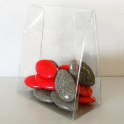 Boîte transparente en forme de sac