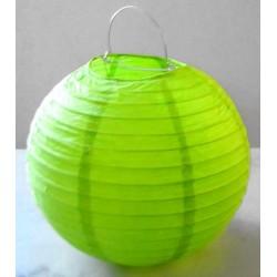 Lampion rond vert anis 25 cm