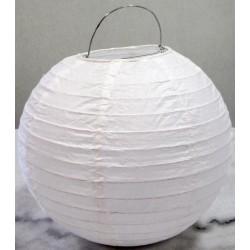 Lampion rond blanc 25 cm
