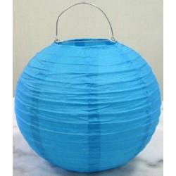 Lampion rond turquoise 25 cm