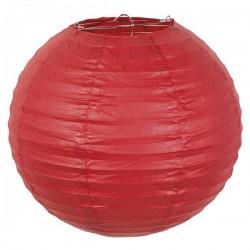 Lampion rond rouge 25 cm