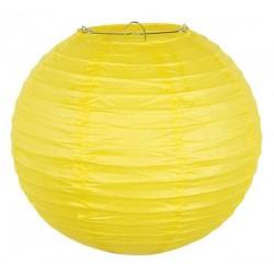 Lampion rond jaune 25 cm