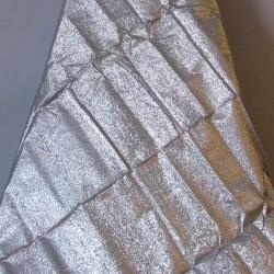 Tissus métallisé argent