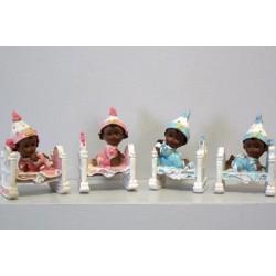 Figurines bébés type africain