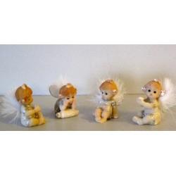 Figurines mini anges à plumes