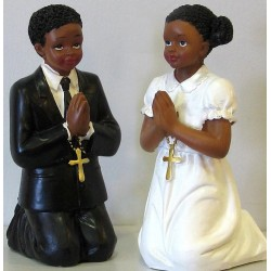 Figurine communiants type africain