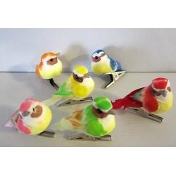 Mini oiseaux sur pince