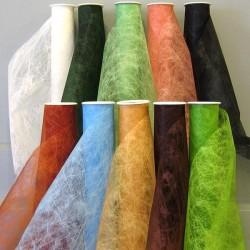Chemins de table en tissu ver à soie