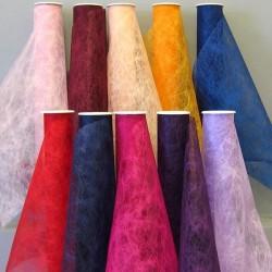 Chemins de table en tissu ver à soie 2