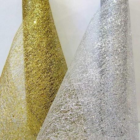 Chemins de table glitter Or ou argent