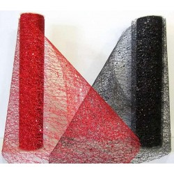 Chemins de table glitter rouge ou noir