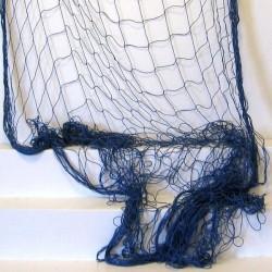 Déco filet de pêche bleu