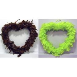 Coeurs en plume 45 cm