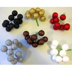 Bouquet boules polystyrène pailleté a