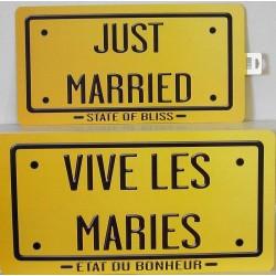Plaques vive les mariés - or