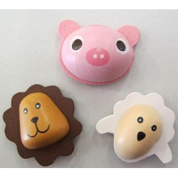 Cochon, lion et mouton autocollants