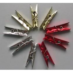 Mini pinces à linge métallisées