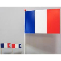 Petits drapeaux tricolores plastique