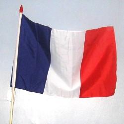 Drapeau tricolore en tissu
