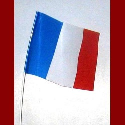 Drapeau tricolore en plastique