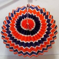 Lampion boule tricolore en papier
