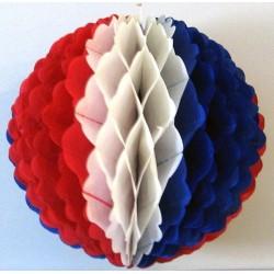 Boule alvéolée tricolore