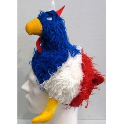 Chapeau poule tricolore