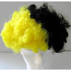 Perruque jaune et noire