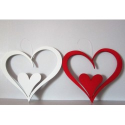 Coeurs mousse double