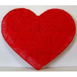 Coeur rouge en sisal 32 cm