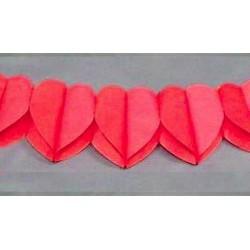 Guirlande coeurs rouges
