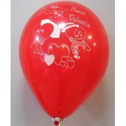 Ballon rouge saint valentin