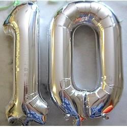 Ballons chiffres 0.86 m alu argent