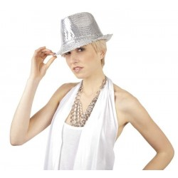 Chapeau Popstar Argent