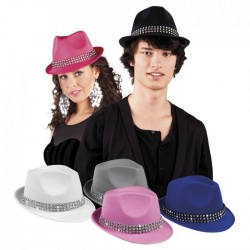 Chapeaux pop avec bande diamants