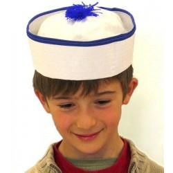 Chapeau de marin ponpon bleu