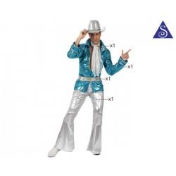 Homme disco bleu ML