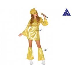 Disco doré femme