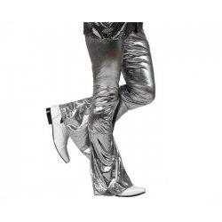 Pantalon disco argent