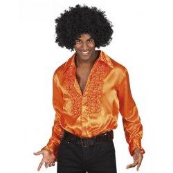 Chemise disco orange