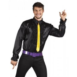 Chemise disco noire