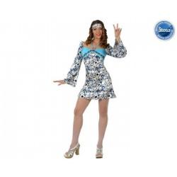 Déguisement hippie bleu fille