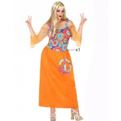Déguisement hippie orange fille