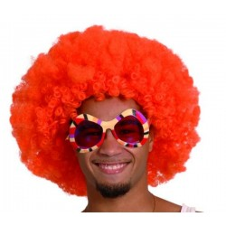 Perruque afro orange