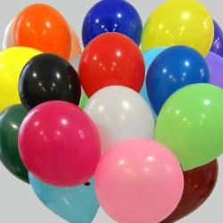 100 ballons 30 cm assortis