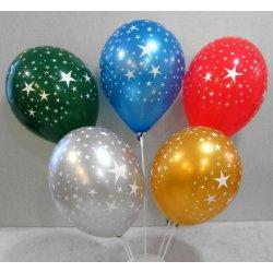 Ballons métallisés avec étoiles 360°