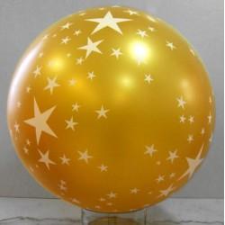 Ballons géants métallisés étoiles