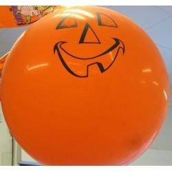 Ballon géant imprimé citrouille